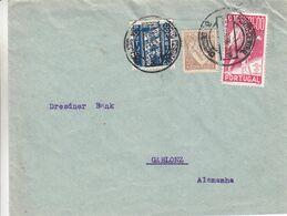Portugal - Lettre De 1939 - Oblit Porto Central - Exp Vers Gablonz - Poëte - 1910-... République