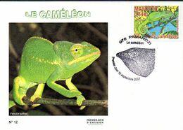 MAYOTTE 0204 Fdc Caméléon - Reptiles & Amphibians
