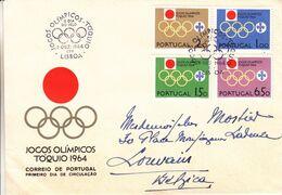 Jeux Olympiques De 1964 - Portugal - Lettre De 1964 - Oblit Lisboa - - 1910-... República