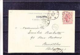 Roumanie - Carte Postale De 1900 - Oblit Bucuresti - Exp Vers Bruxelles - Vue Statue Miron Costin - 1881-1918: Charles I