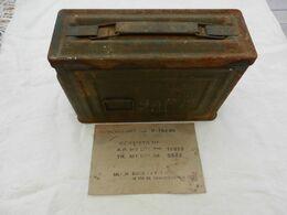 Caisse/boîte à Munitions US Américaine Cal 30 Pour Mitrailleuse WW2 2° Guerre - Other