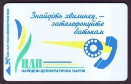 UKRAINE 1997. KIEV. ELECTION CAMPAIGN. Cat.- Nr. K101. 840 Units. Chip Nemiga - Ukraine