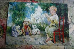 TEDDY BEAR IN ART. Painter Morozova -     Modern Postcard . - Games & Toys