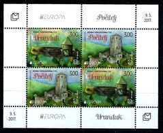Bosnia And Herzegovina (Mostar) 2017: Europa-CEPT;  Castles, Souvenir Sheet ** MNH - 2017