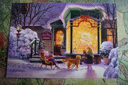 TEDDY BEAR IN ART. Painter Laird -  Christmas -   Modern Postcard . - Games & Toys