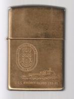 ZIPPO - U.S.S. WHIDBEY ISLAND  LSD-41 - Solide Brass, Année 1995 (jamais Servi) -  SB - 12 - Zippo