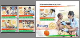 NIGER 2020 MNH 115 Years Rotary Club 4v+S/S - OFFICIAL ISSUE - DHQ2028 - Rotary, Lions Club