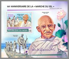NIGER 2020 MNH Mahatma Gandhi Salt March Salzmarsch Marche Du Sel S/S - OFFICIAL ISSUE - DHQ2028 - Mahatma Gandhi