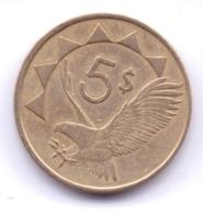 NAMIBIA 1993: 5 Dollars, KM 5 - Namibië