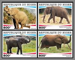 NIGER 2020 MNH Elephants Elefanten 4v - IMPERFORATED - DHQ2028 - Elefantes