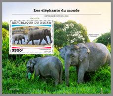 NIGER 2020 MNH Elephants Elefanten S/S - IMPERFORATED - DHQ2028 - Elefantes