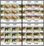 NIGER 2020 MNH Elephants Elefanten M/S - IMPERFORATED - DHQ2028 - Elefantes