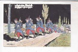 CPA ILLUSTREE , MAI , MARCHES D EPREUVES En 1905! - Humour