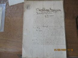 CLARY 29 ET 30 MARS 1886 MAISON A USAGE D'ESTAMINET RUE DES PONTS BAIL PAR M.HOUDART FRANCOIS A M.EMILE DESCHRYVER CHARC - Manuskripte