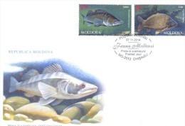 2014. Moldova, Fauna Of Moldova, Fishes,  FDC With Stamps, Mint** - Moldavia
