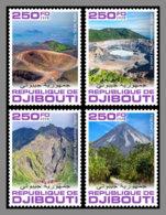 DJIBOUTI 2020 MNH Volcanoes Vulkane Volcans 4v - IMPERFORATED - DHQ2030 - Volcanos