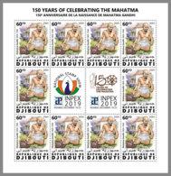 DJIBOUTI 2020 MNH Mahatma Gandhi 1v - IMPERFORATED - DHQ2030 - Mahatma Gandhi