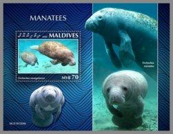 MALDIVES 2020 MNH Manatees Seekühe S/S - IMPERFORATED - DHQ2030 - Mammifères Marins