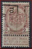 Rijkswapen Nr 55 Voorafstempeling Nr. 398  TOURNAI 01 - Positie B ; Staat Zie Scan ! - Roller Precancels 1900-09