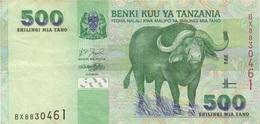 Tanzanie : 500 Shilingi ND Buffle : Bon état - Tanzania