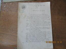CLARY 2 AOUT 1862 NOTIFICATION POUR PURGE LEGALE A LA REQUÊTE DE M.ALFRED DECUPERE NOTAIRE ET DE Mme WATREMETZ SON EPOUS - Manuskripte