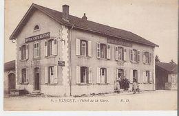 VINCEY. CPA Hôtel De La Gare - Vincey