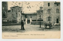 CPA: 01- CHATILLON-SUR-CHALARONNE - PLACE St VINCENT DE PAUL - Châtillon-sur-Chalaronne