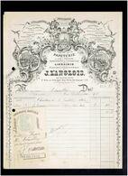FACTURE 1900 PAPETERIE IMPRIMERIE LIBRAIRIE LANGLOIS A CHARTRES EURE ET LOIR POUR LHUILLIER PHARMACIEN - Printing & Stationeries