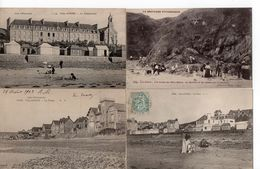 LOT 10 CPA - BRETAGNE - VAL ANDRE - La Plage - 5 - 99 Postcards