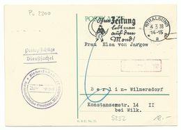 """DR Maschinnenwerbestempel Stralsund """"Ohne Zeitung..."""" Auf Postkarte Nach Berlin Mit Nachgebühr - Briefe U. Dokumente"""
