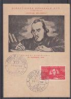 Roumanie - Carte Postale FDC De 1948 - Oblit Bucuresti - écrivain - Cor De Poste - Briefe U. Dokumente