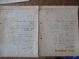 CLARY DISTILLERIE ASSEMBLEE GENERALE ANNUELLE ORDINAIRE DES ACTIONNAIRES LE 28 MAI 1923 2 CONVOCATIONS - Historische Dokumente