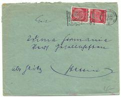 """DR Maschinenwerbestempel Stralsund """"Nur Gesunde Vollfamilien..."""" Auf Brief 1937 Nach Stettin - Briefe U. Dokumente"""