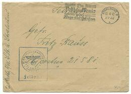"""DR Maschinenwerbestempel Stralsund """"Ein Postscheckkonto..."""" Auf Brief 1942 Feldpost - Briefe U. Dokumente"""