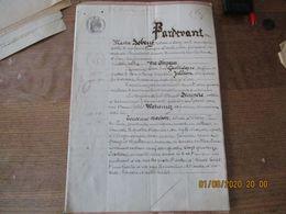 CLARY LE 18 AVRIL 1862 VENTE PAR M.DESIRE GAILLIEQUE ET JOSEPHINE JULLION D'UNE MAISON RUE DES PONTS A M.ALFRED DECUPERE - Manuskripte