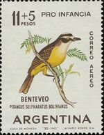 MDB-BK2-384 MINT ¤ ARGENTINA 1963 2w In Serie ¤ OISEAUX - BIRDS - PAJAROS - VOGELS - VÖGEL - - Passereaux