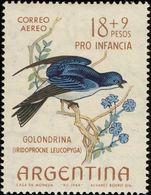 MDB-BK2-384 MINT ¤ ARGENTINA 1964 2w In Serie ¤ OISEAUX - BIRDS - PAJAROS - VOGELS - VÖGEL - - Passereaux