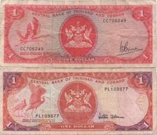 Trinidad & Tobago : Pair De 2 Billets Différents : 1 Dollar X 2 (mauvais état) - Trinidad En Tobago