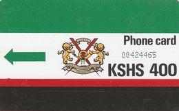 """Kenya, KEN-10, 400 KSHS, K.P.T.C. Logo 400 (No Notch & Letter """"T""""), 2 Scans. - Kenya"""