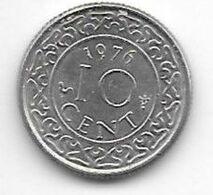*suriname 10  Cents 1976  Km 13   Xf+/ms60 - Suriname 1975 - ...