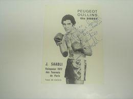 Photo Boxe Signé Par , SAADLI , Champion De France Des Légers , Authographe Dédicassée Signature - Photography