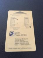Hotelkarte Clef De Hotel Tarjeta Hotel Room Key  PENTA HOTEL BERLIN  CASINO On Back - Phonecards