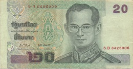Thaïlande : 20 Baht (état Courant) - Tailandia