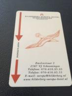 Hotelkarte Clef De Hotel Tarjeta Hotel Room Key  HOTEL  BILDERBERG  SCHEVENINGEN  HOLLAND CASINO - Phonecards