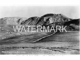 TE WAIROA VILLAGE AFTER ERUPTION OF MOUNT TARAWERA 1886 OLD R/P PLAIN BACK POSTCARD NEW ZEALAND - New Zealand