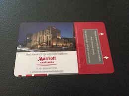 Hotelkarte Clef De Hotel Tarjeta Hotel Room Key  HOTEL  AMSTERDAM MARRIOTT  HOLLAND CASINO - Phonecards