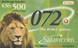 Kenya, KE-SAF-REF-0002A, KSh 500, Safaricom Recharge, Lion, Expiry 2003/03/31, 2 Scans. - Kenya