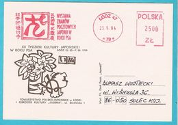 Poland 1994, Lodz EMA Meter, Year Of The Dog, Dogs , Chien, Hund,  Chiens, Perros - Dogs