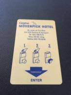 Hotelkarte Clef De Hotel Tarjeta Hotel Room Key  MÖVENPICK GENEVE  CASINO DE DIVONNE - Phonecards