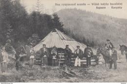 AK – (Ukraine) Orenstein - HUZULEN Versammeln Sich Vor Der Hütte 1915 - Ukraine